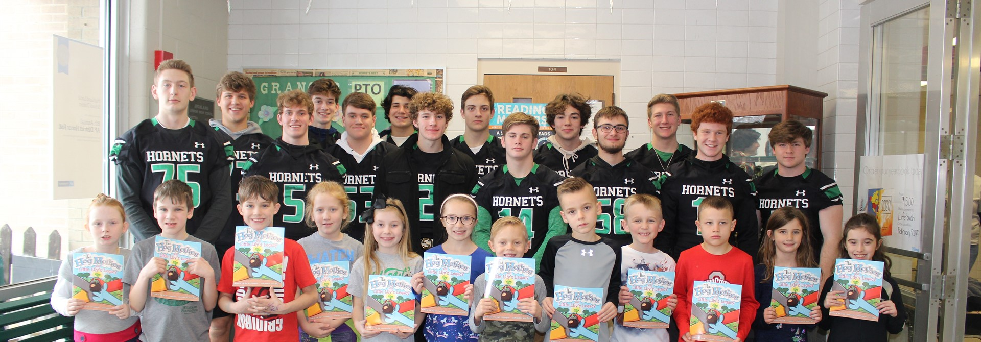 Highland Football Players Visit Granger Elementary