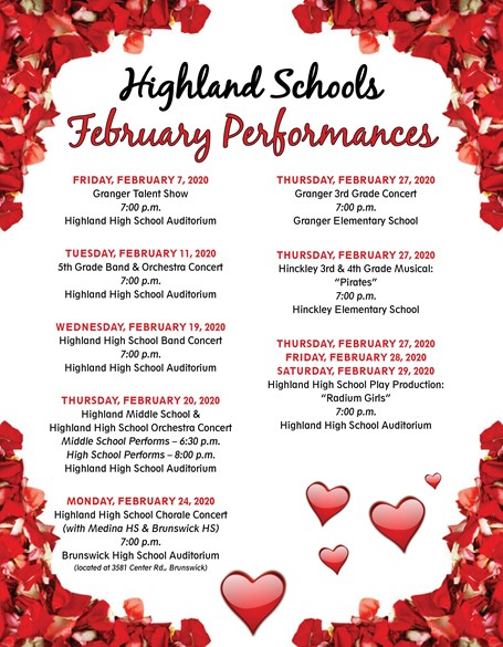 February Performance Flyer