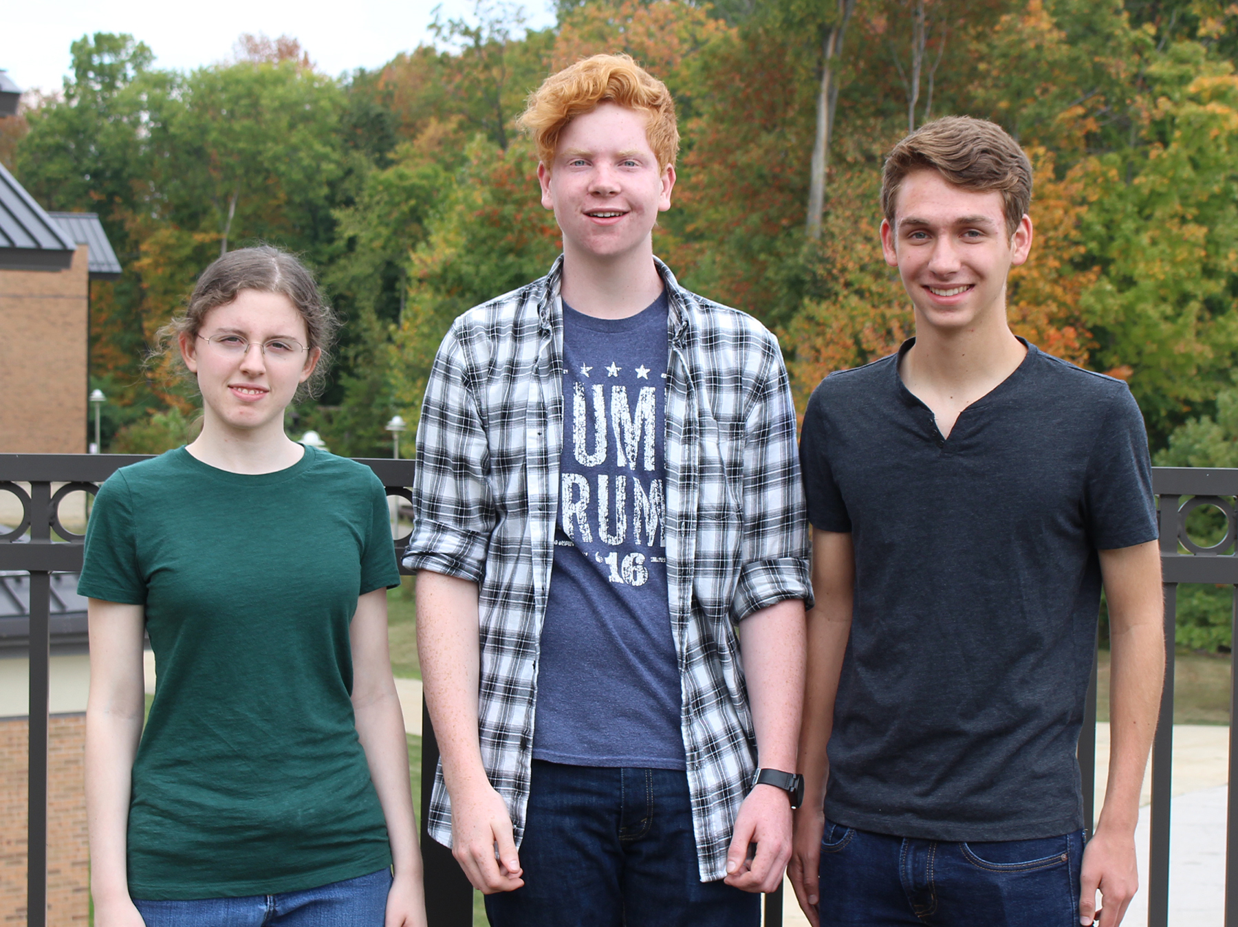 Pictured from left are Clara Vorndran, Ben Lewton and Larkin Cleland