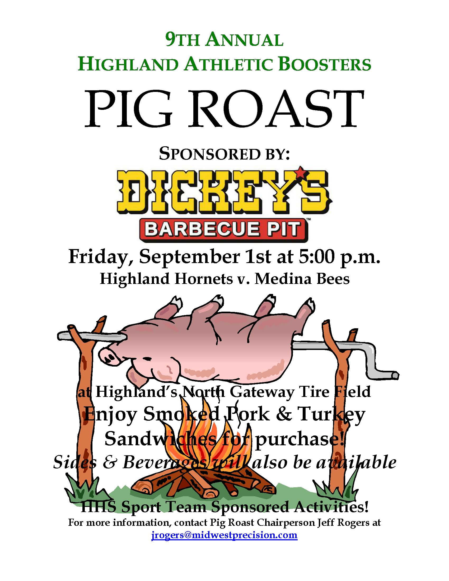 HAB Pig Roast Flyer